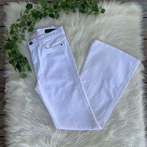 Current/Elliott The Girl Crush Flare White Jeans